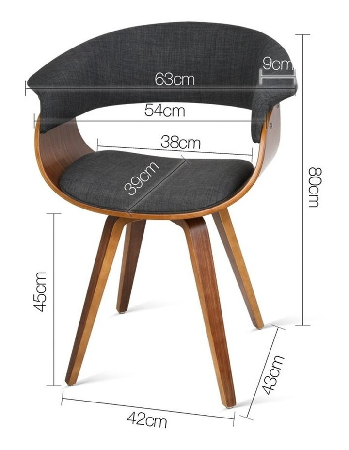 Timber Wood And Fabric Dining Chair image 2
