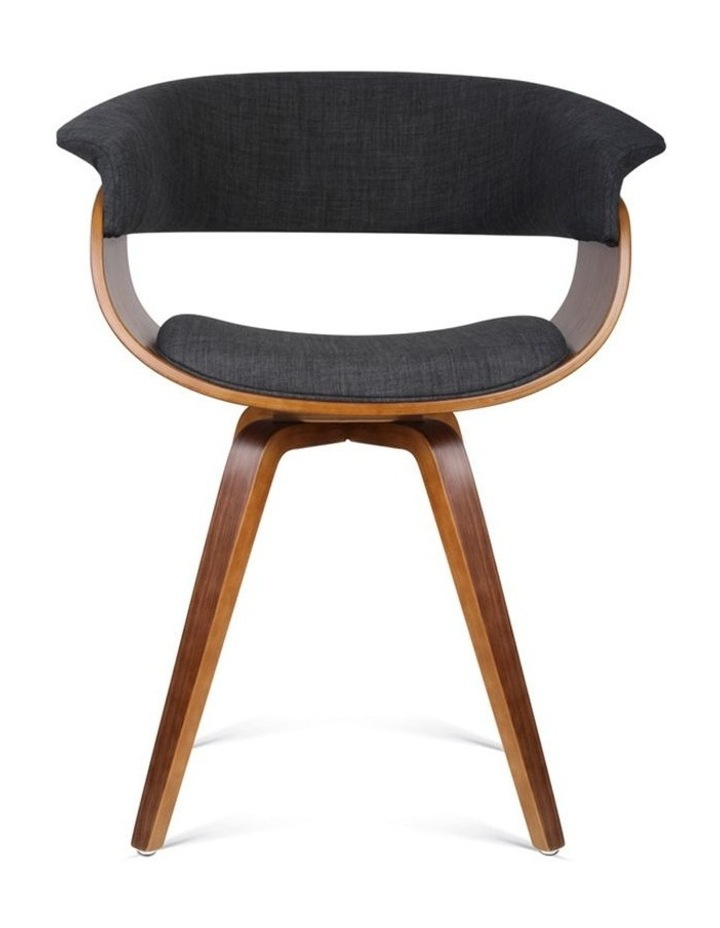 Timber Wood And Fabric Dining Chair image 3