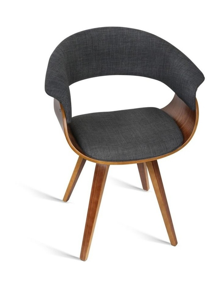 Timber Wood And Fabric Dining Chair image 4