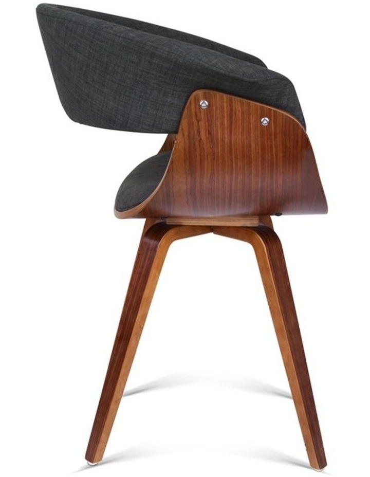 Timber Wood And Fabric Dining Chair image 5