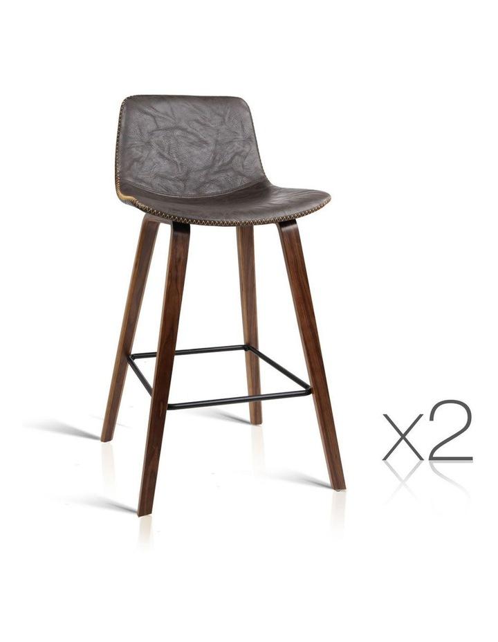 Set Of 2 Pu Leather Bar Stools image 1