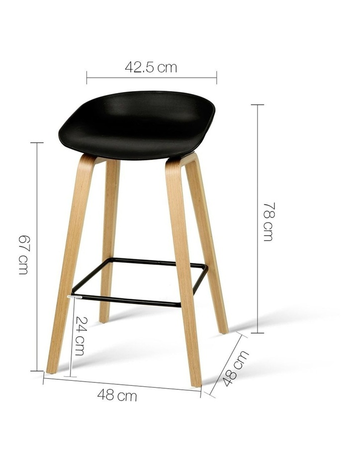 Set Of 2 Wooden Backless Bar Stools image 2
