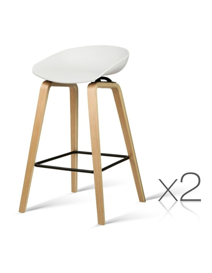 Wooden Backless Bar Stools image 1