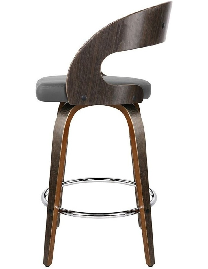 Set Of 2 Walnut Wooden Bar Stool image 3
