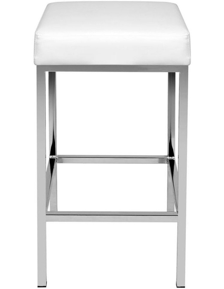 Set Of 2 Pu Leather Backless Bar Stools image 3