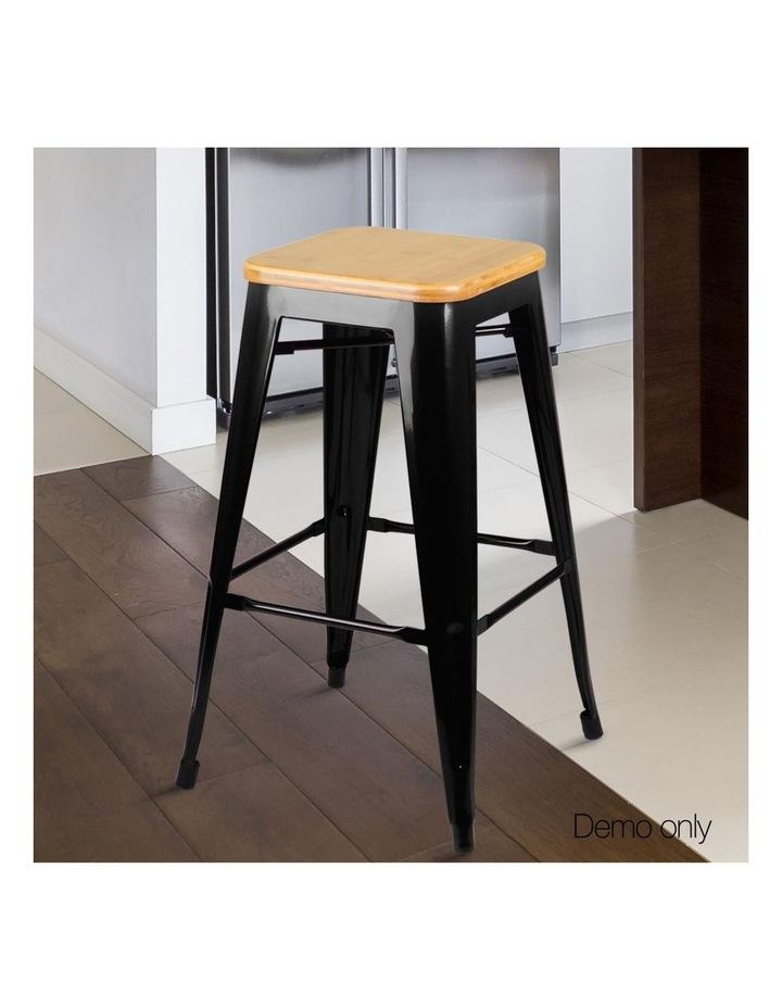 Set Of 2 Wooden Backless Bar Stools image 5