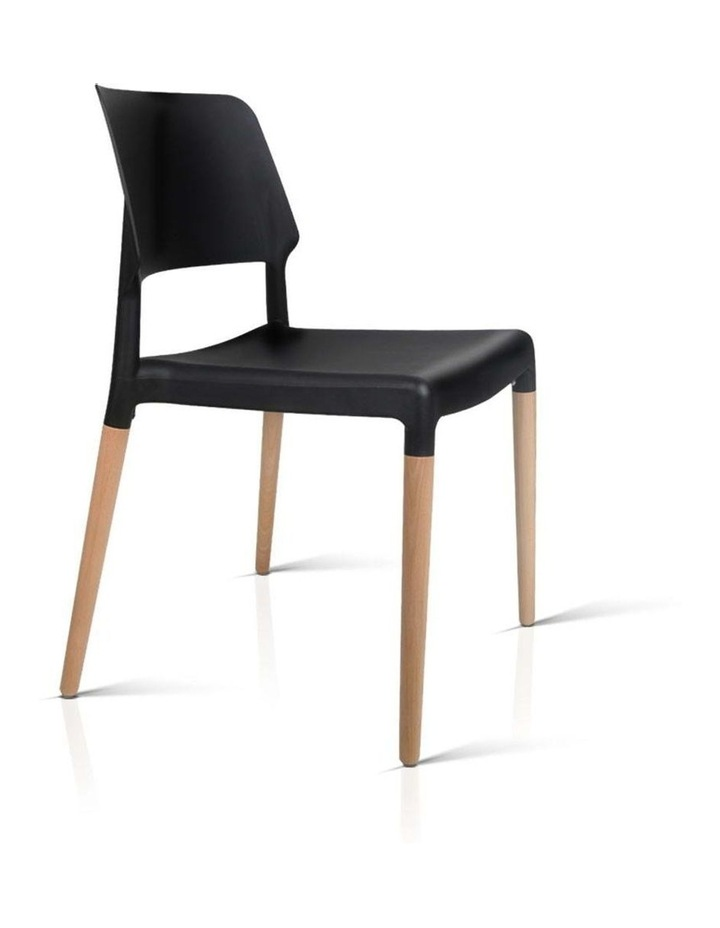 Set Of 4 Wooden Stackable Dining Chairs image 4