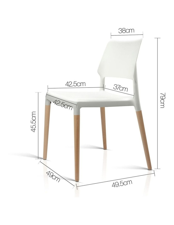 Set Of 4 Wooden Stackable Dining Chairs image 2