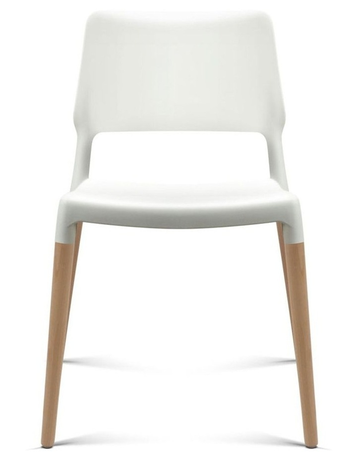 Set Of 4 Wooden Stackable Dining Chairs image 3