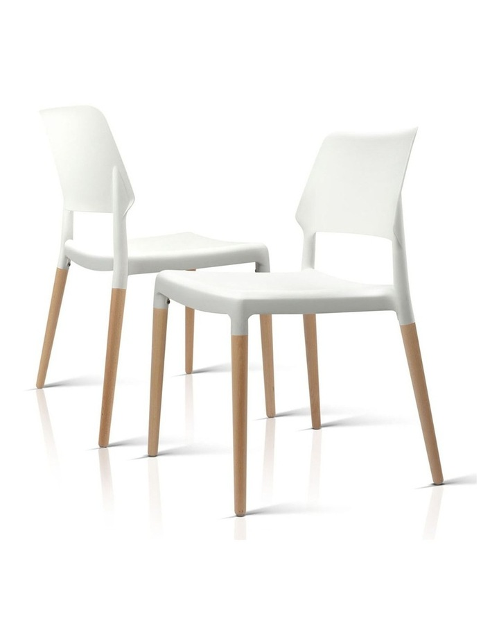 Set Of 4 Wooden Stackable Dining Chairs image 5