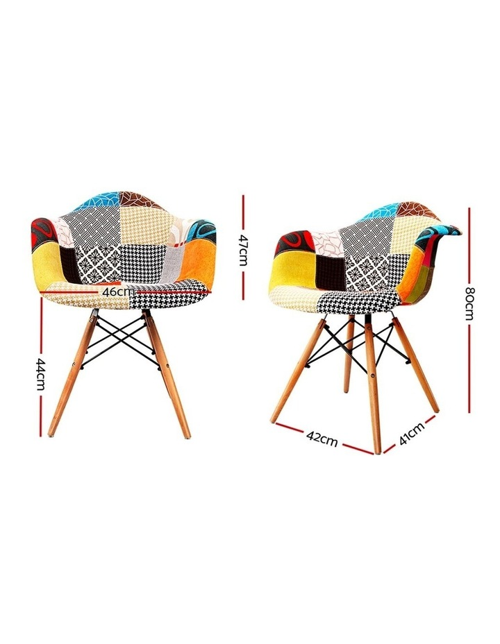 Set Of 2 Fabric Dining Chairs image 2