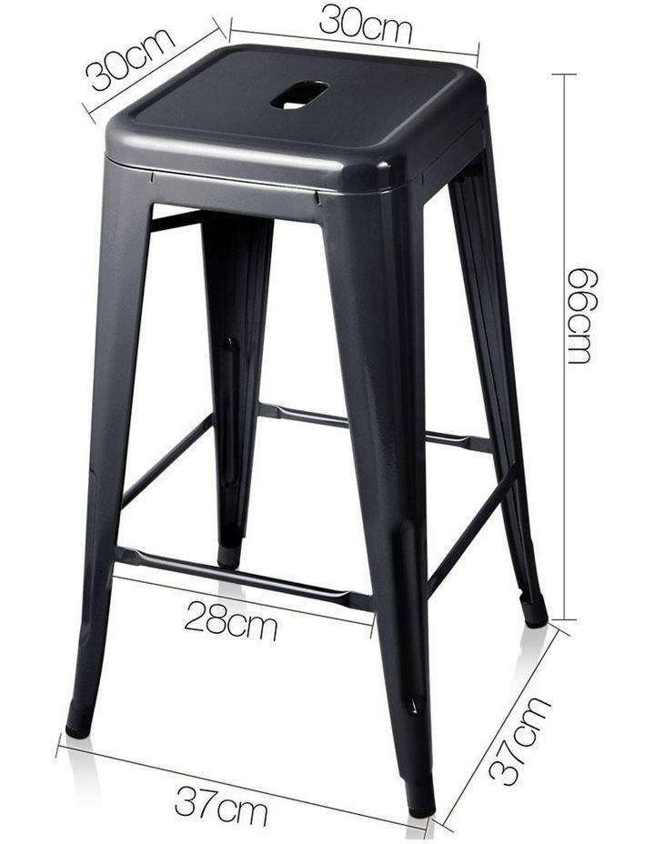Set Of 4 Metal Backless Bar Stools image 2