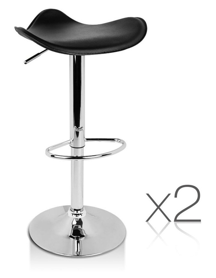 Set Of 2 Pvc Leather Kitchen Bar Stools image 1