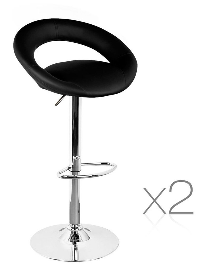 Set Of 2 Pu Leather Bar Stools image 1