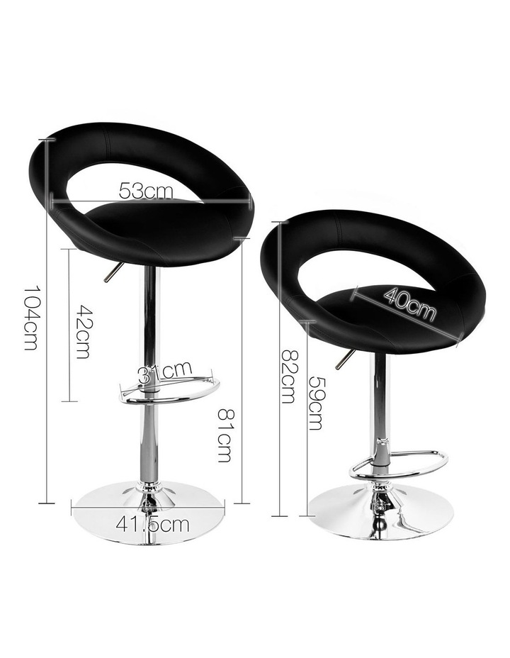 Set Of 2 Pu Leather Bar Stools image 2