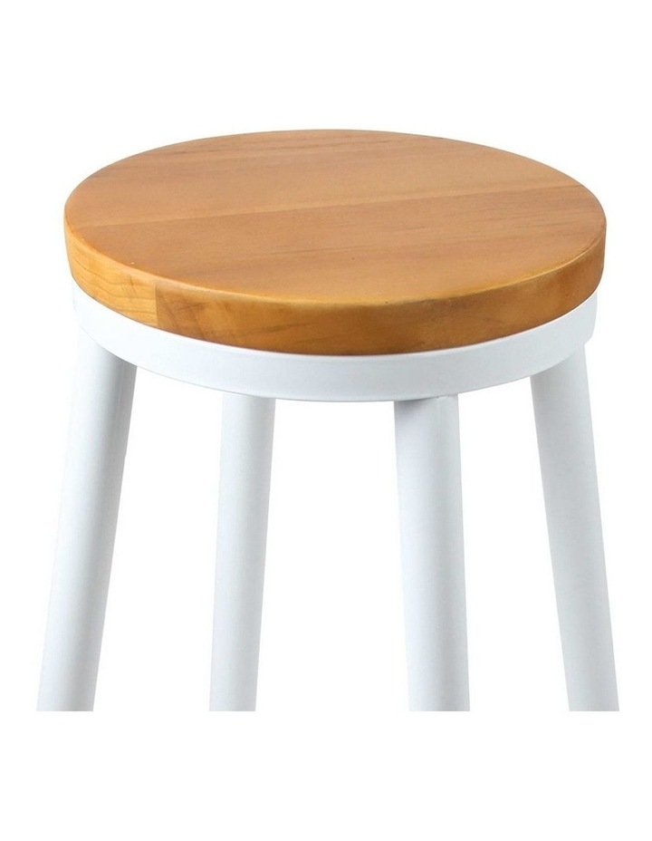 Set Of 2 Wooden Stackable Bar Stools image 4