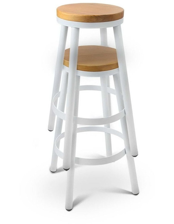 Set Of 2 Wooden Stackable Bar Stools image 5