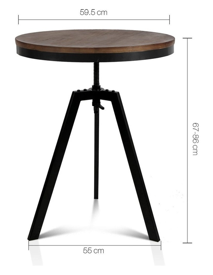 Elm Wood Round Dining Table image 2