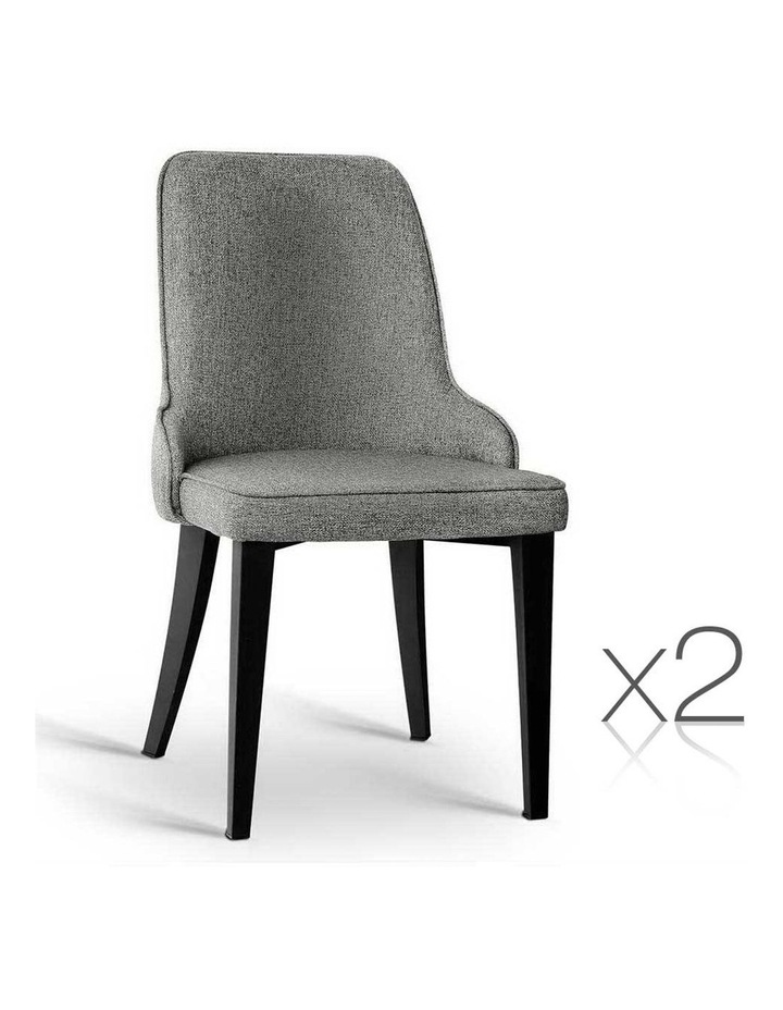 Set Of 2 Fabric Dining Chairs image 1