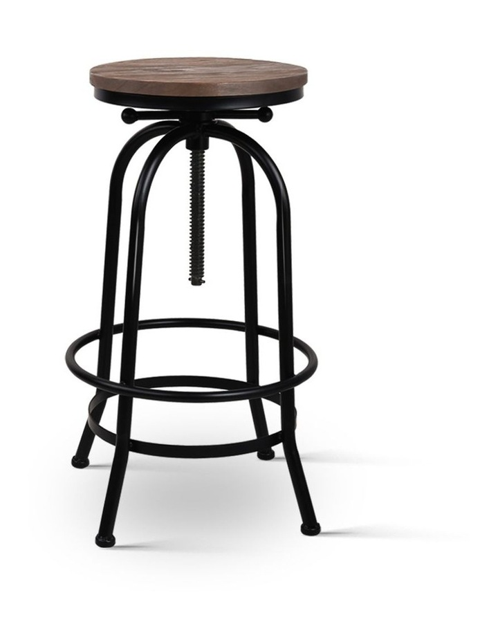 Rustic Industrial Round Bar Stool image 1