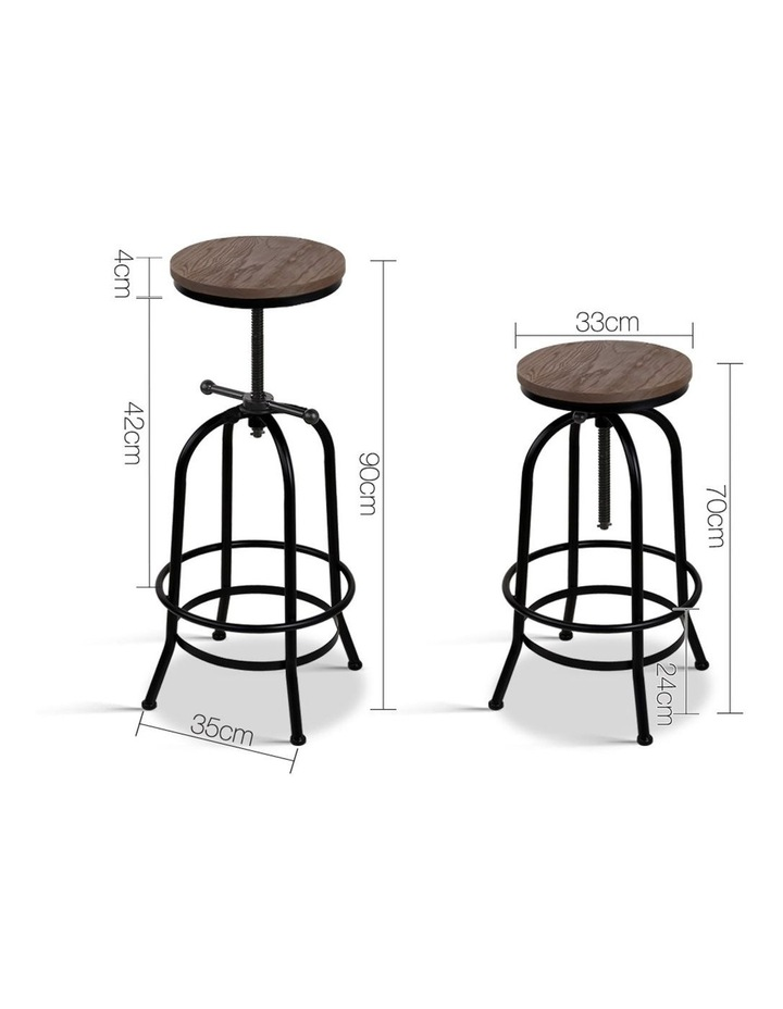 Rustic Industrial Round Bar Stool image 2