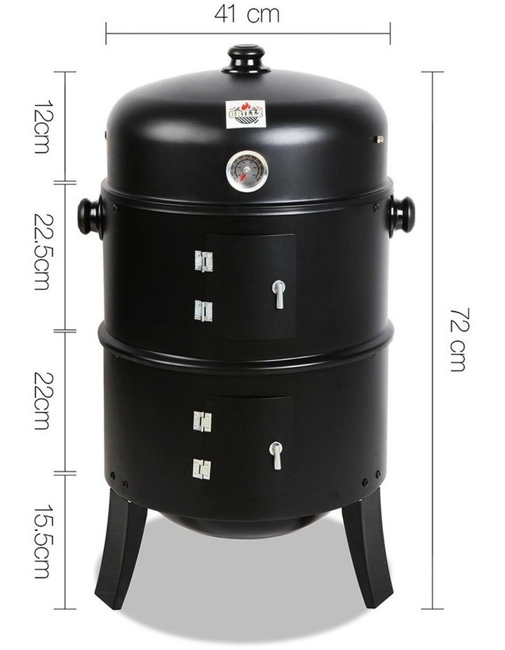 3-In-1 Charcoal Bbq Smoker image 2