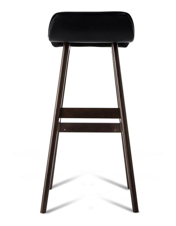 Pu Leather And Wood Bar Stool image 4