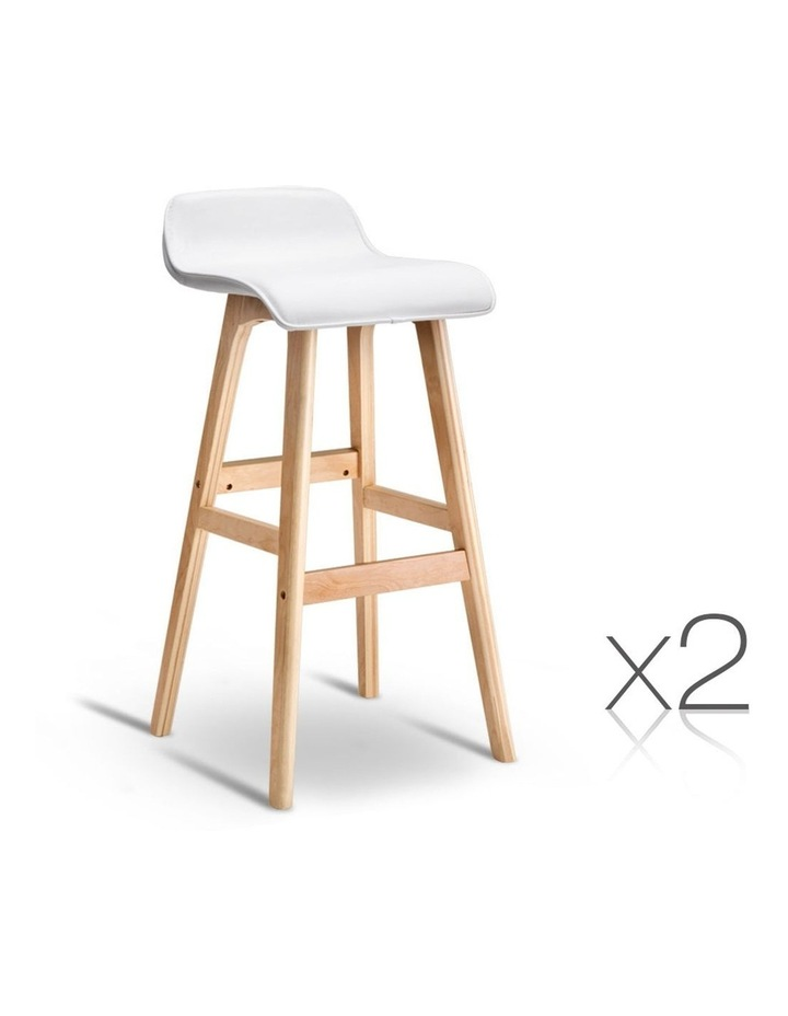 Pu Leather And Wood Bar Stool image 1