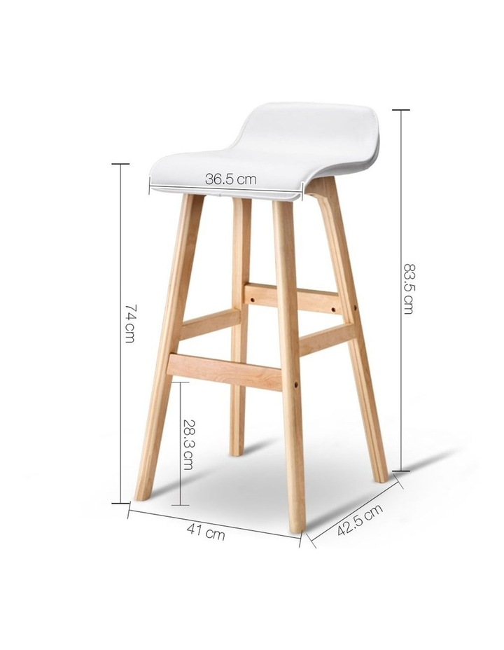 Pu Leather And Wood Bar Stool image 2