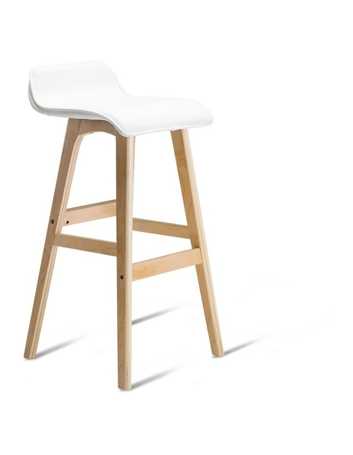 Pu Leather And Wood Bar Stool image 3