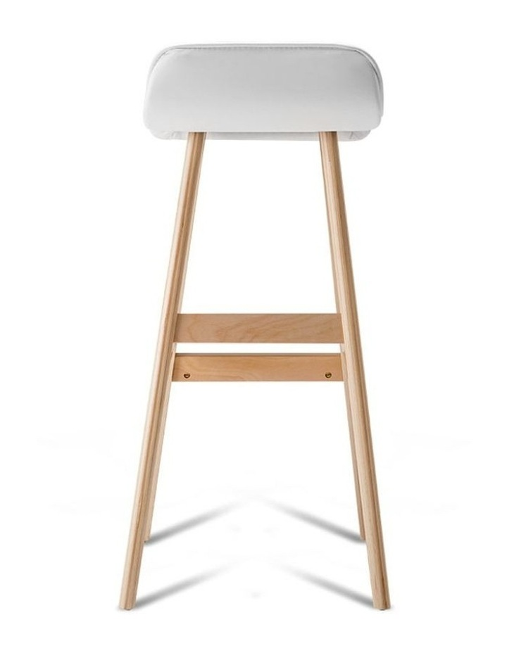 Pu Leather And Wood Bar Stool image 4