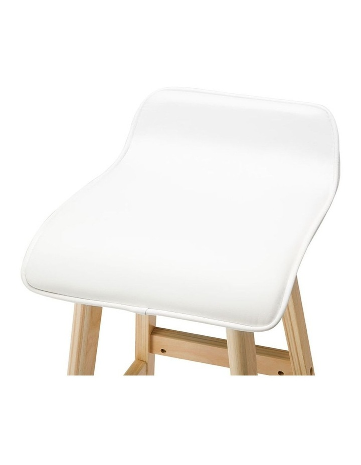 Pu Leather And Wood Bar Stool image 5