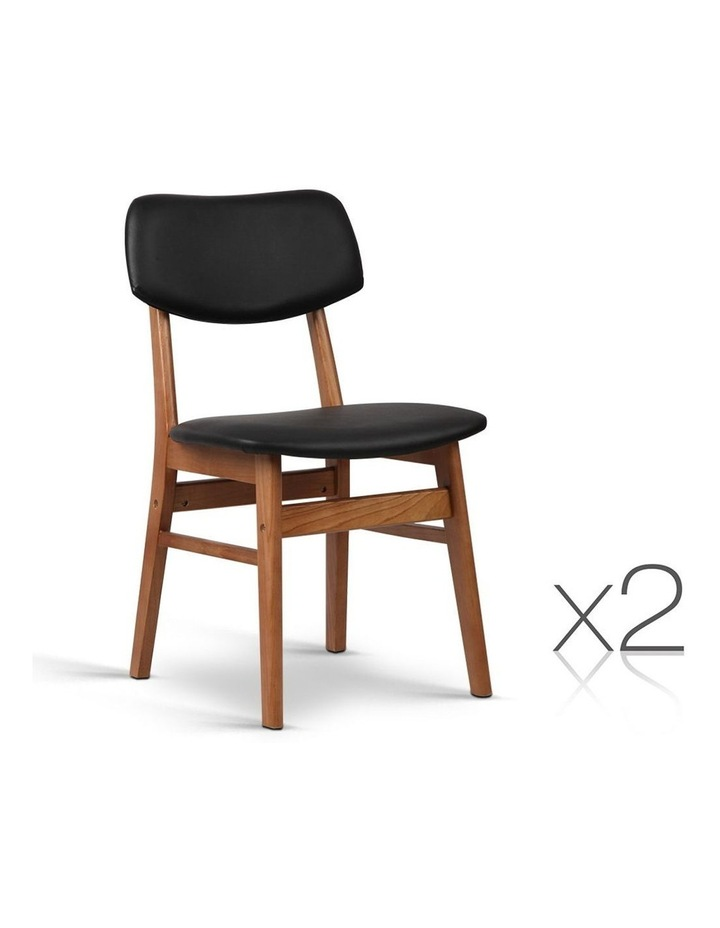 Wood & Pvc Dining Chairs image 1