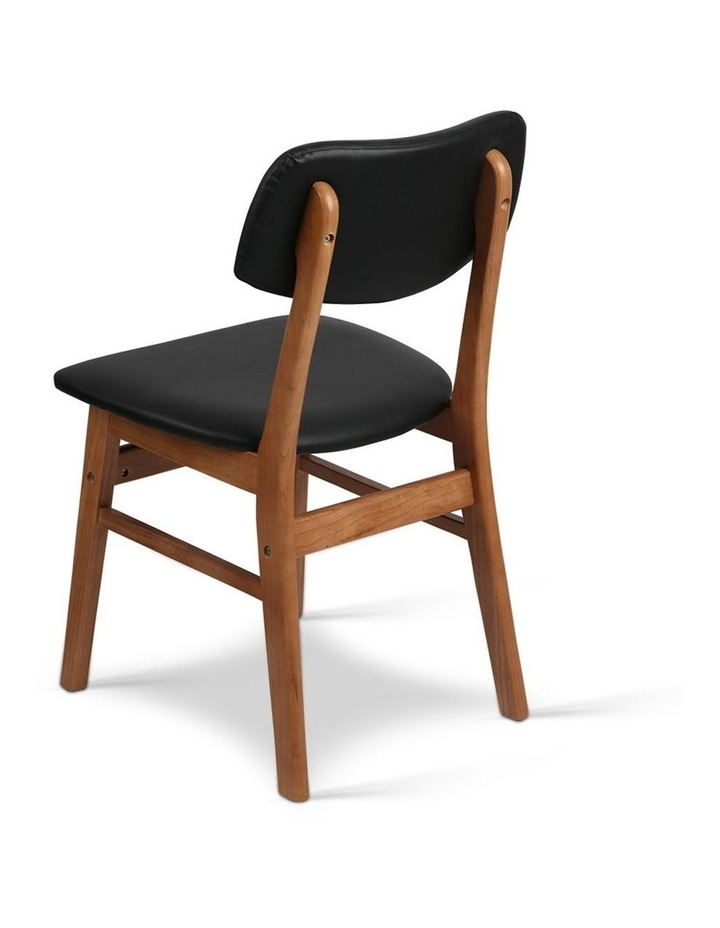 Wood & Pvc Dining Chairs image 5