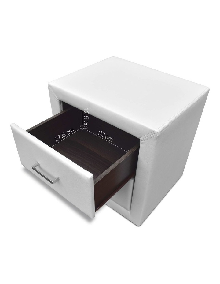 PVC Leather Bedside Table image 3