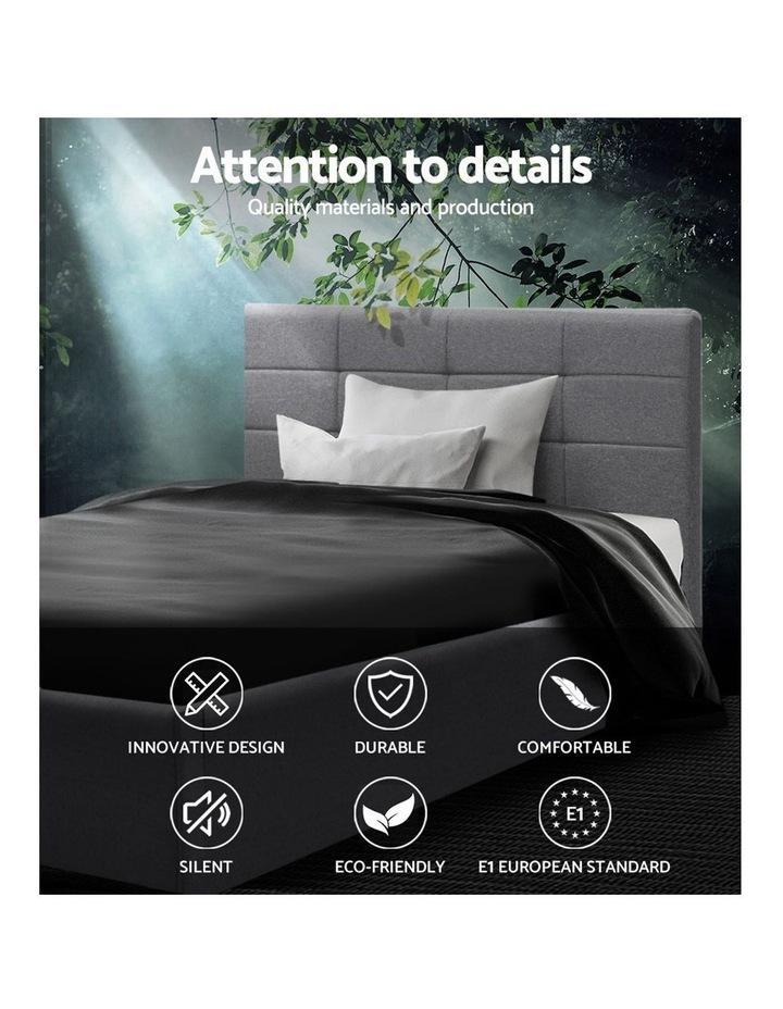 LISA King Single Size Gas Lift Bed Frame Base With Storage Mattress Grey Fabric image 4
