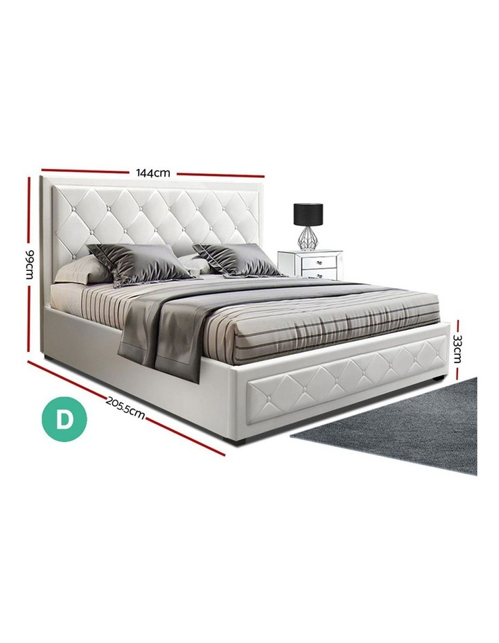 TIYO Double Full Size Gas Lift Bed Frame Base With Storage image 2