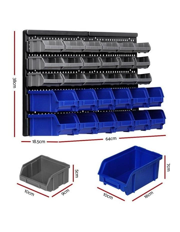 60 Bin Wall Mounted Rack Storage image 2