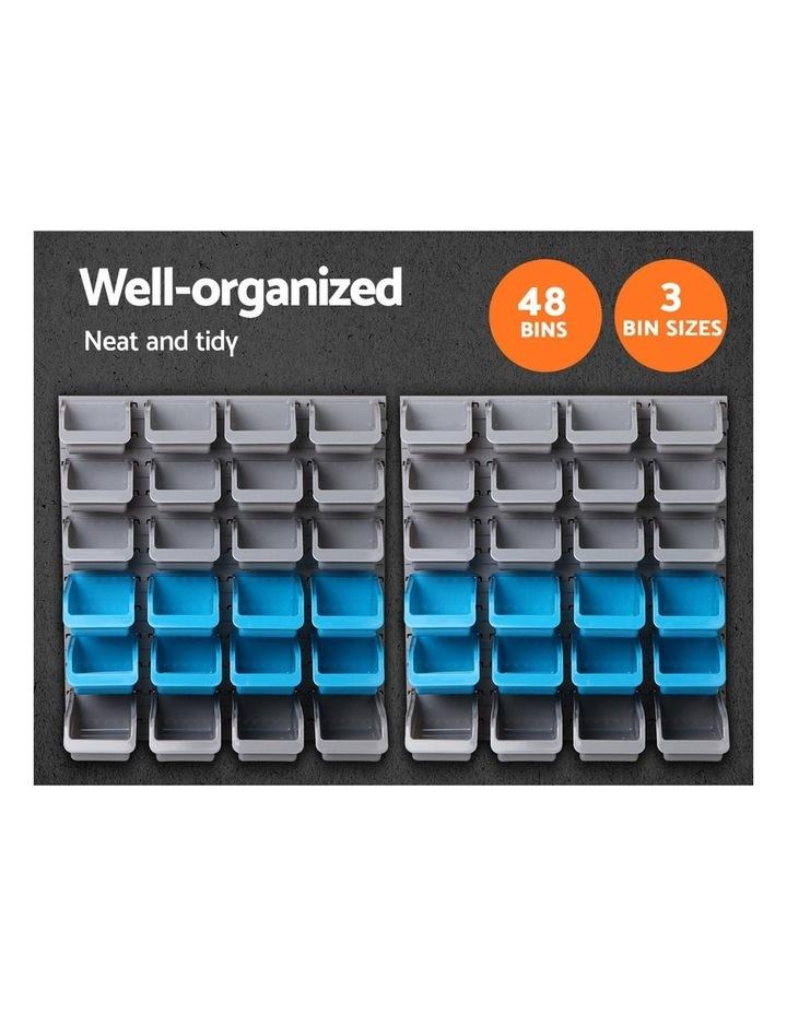 Giantz 48 Bin Wall Mounted Rack Storage Organiser image 5