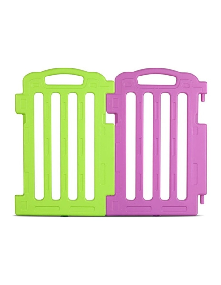 Plastic Baby Playpen Set Of 2 Safety Divider Gate Fence Extension Panel image 1