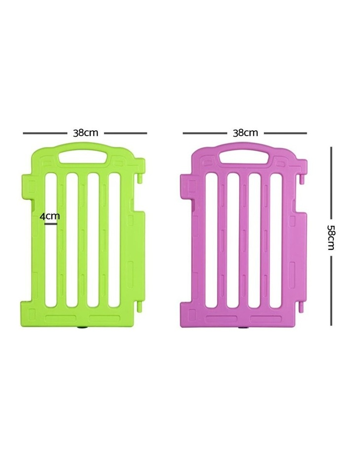 Plastic Baby Playpen Set Of 2 Safety Divider Gate Fence Extension Panel image 2