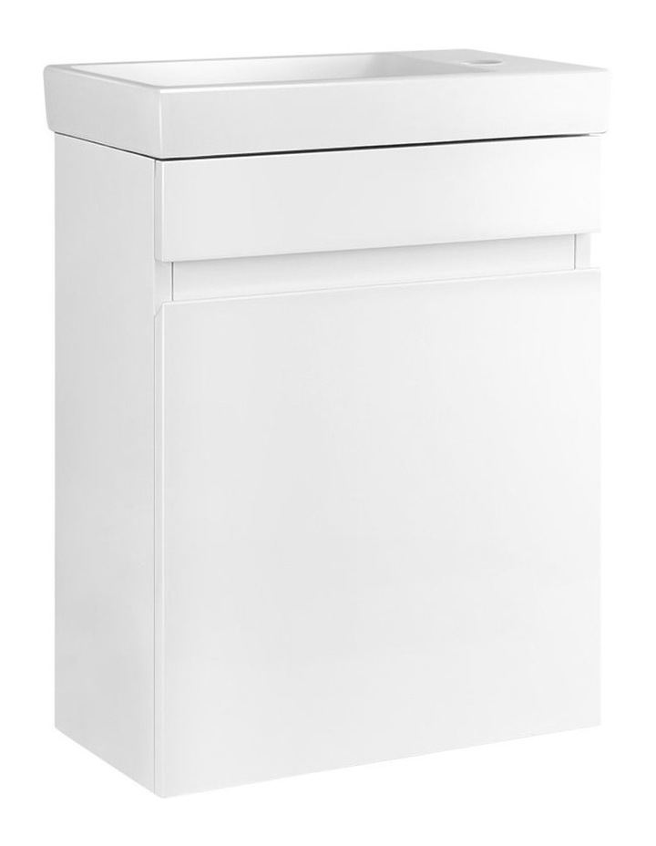 Bathroom Vanity Unit Wall Hung Hand Wash Ceramic Basin Sink Cabinet White image 1