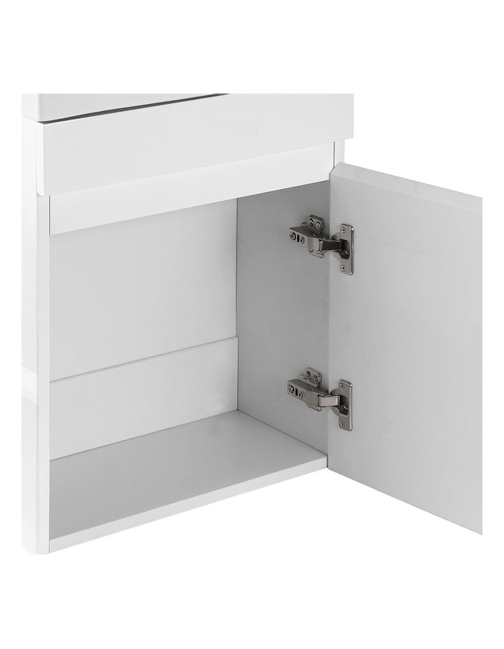 Bathroom Vanity Unit Wall Hung Hand Wash Ceramic Basin Sink Cabinet White image 5