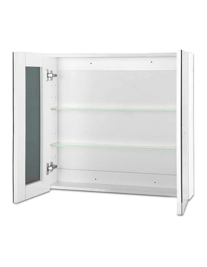 Bathroom Vanity Mirror with Storage Cabinet - White image 4