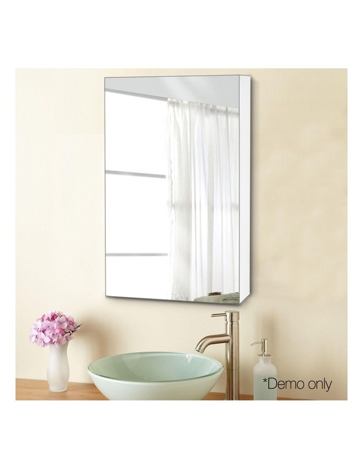 Bathroom Vanity Mirror with Storage Cabinet - White image 3