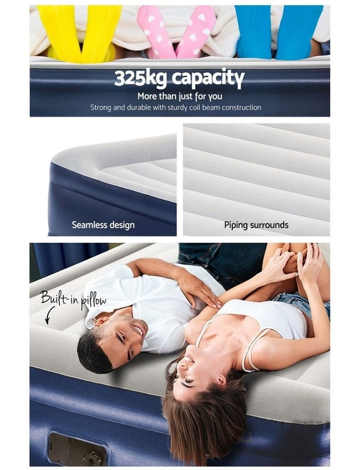Bestway King Air Bed Air Beds Inflatable Mattress TRITECH Airbed Built-in Pump image 5