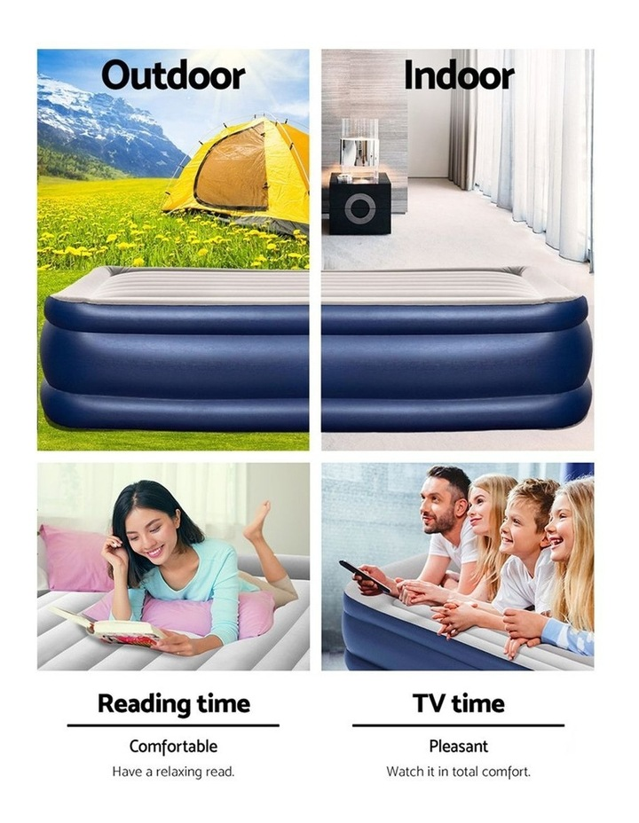 Bestway Queen Air Bed Air Beds Inflatable Mattress Built-in Pump Camping image 5