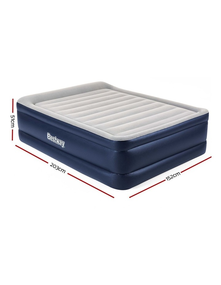 Bestway Queen Air Bed Air Beds Inflatable Mattress TRITECH Airbed Built-in Pump image 2