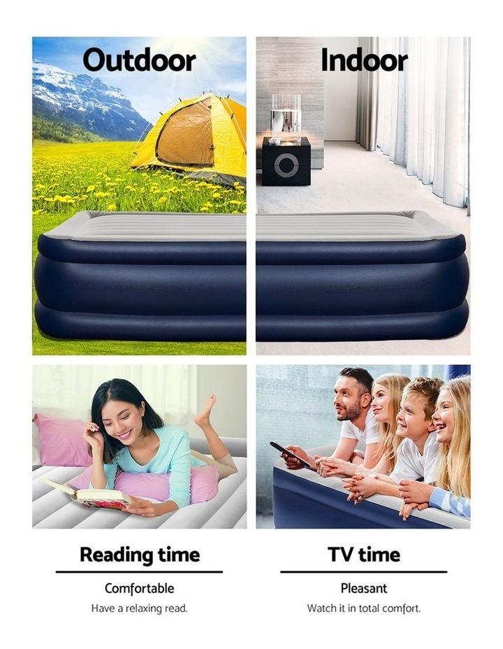 Bestway Queen Air Bed Air Beds Inflatable Mattress TRITECH Airbed Built-in Pump image 5