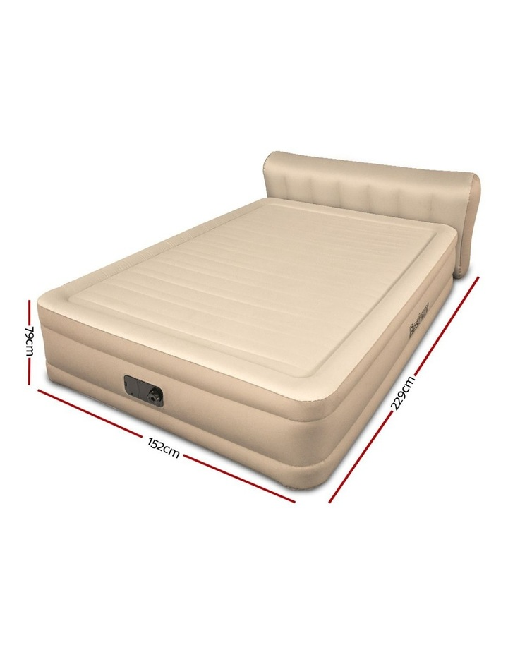 Queen Inflatable Air Bed Home Blow Up Mattress with Built-in Pump image 2